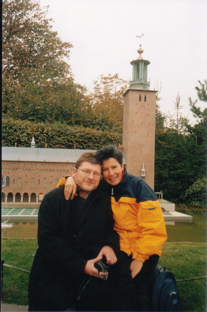 Z Anią Bramską w mini Europie pod Brukselą.